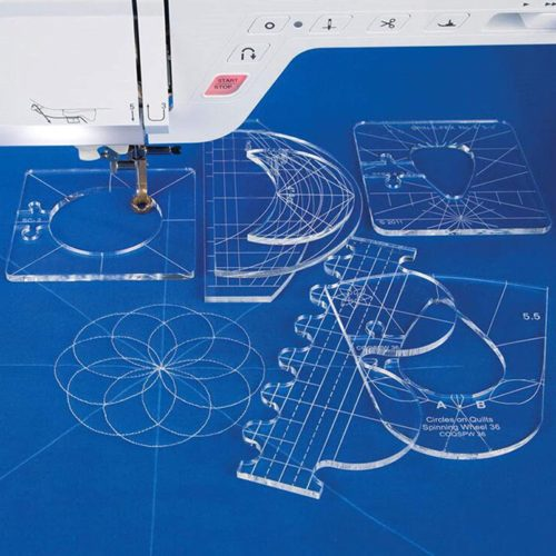 Clear Quilting Acrylic Templates (6pcs)