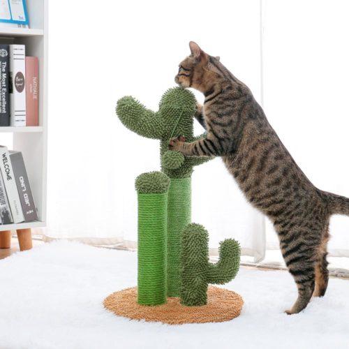 Green Cat Cactus Scratch Post