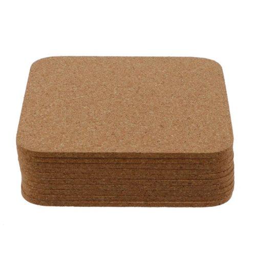 Non-Slip Square Cork Coasters (10pcs)