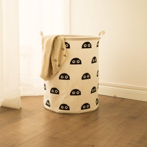 Portable Laundry Basket with Cartoon Design