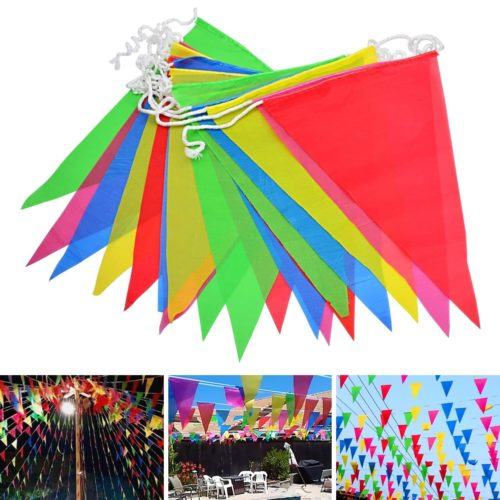 Triangle Banner Flags Festival Decor