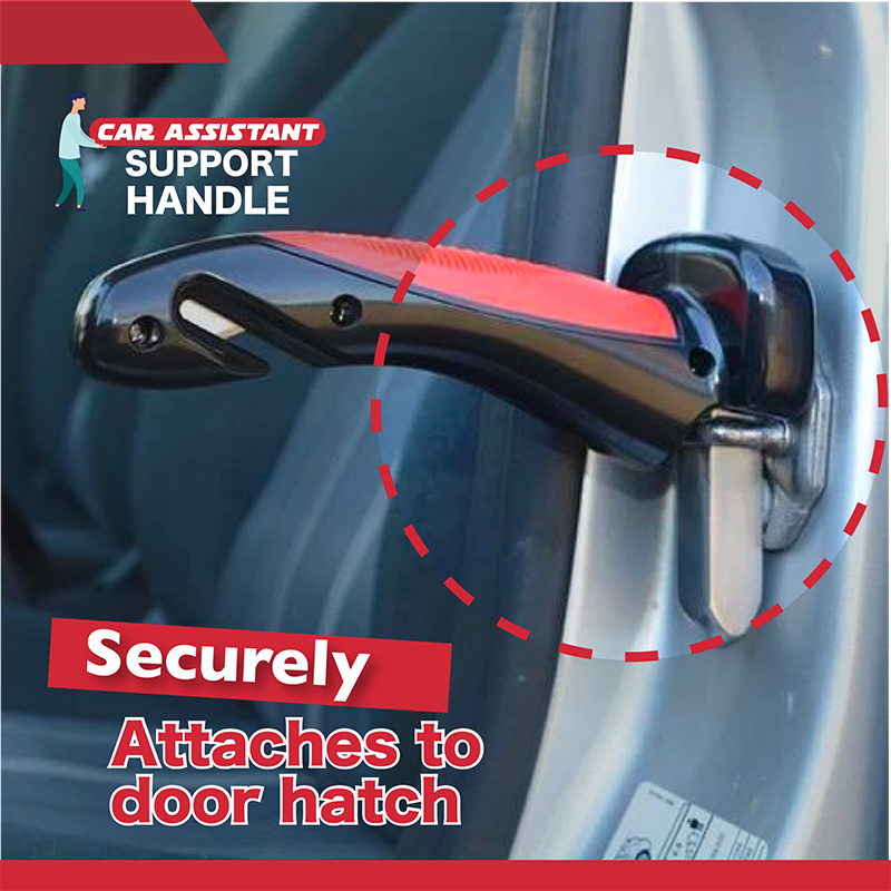 Car Assistant Support Handle Multi-function Safety Door Aider Handles Assist Hammer Bar Parts Window Breaker With LED Dropship