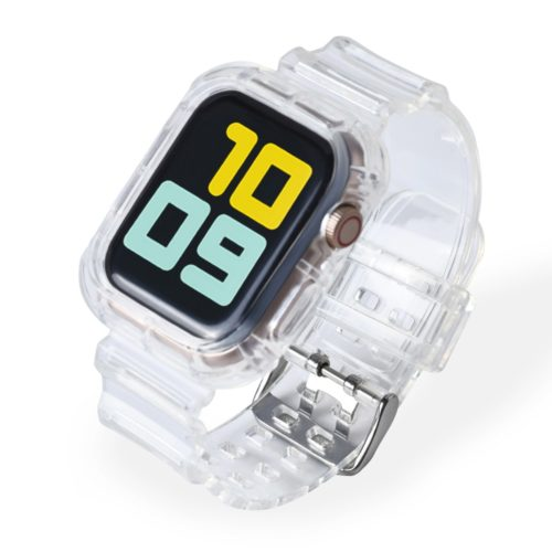 Clear Apple Watch Band Plastic Strap