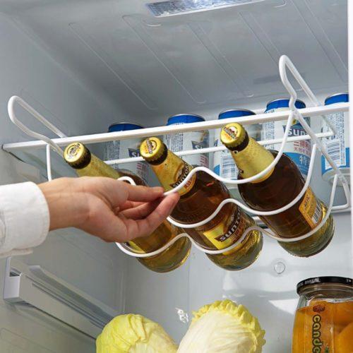 Refrigerator Wine Rack Bottle Organizer