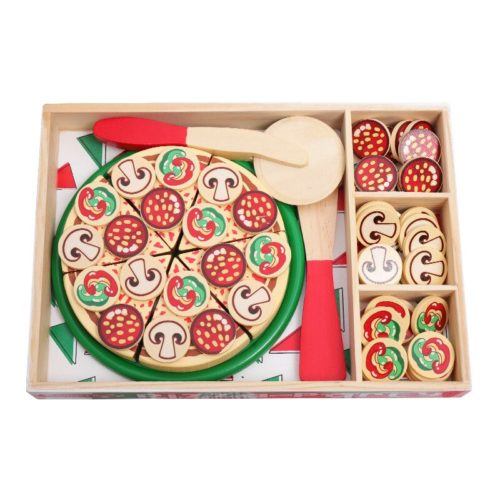 Play Pretend Wood Pizza Toy