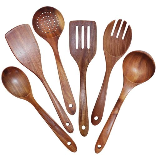 Wooden Kitchen Utensil Set (6 Pcs)
