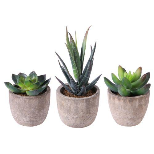 Mini Artificial Succulents in Pot