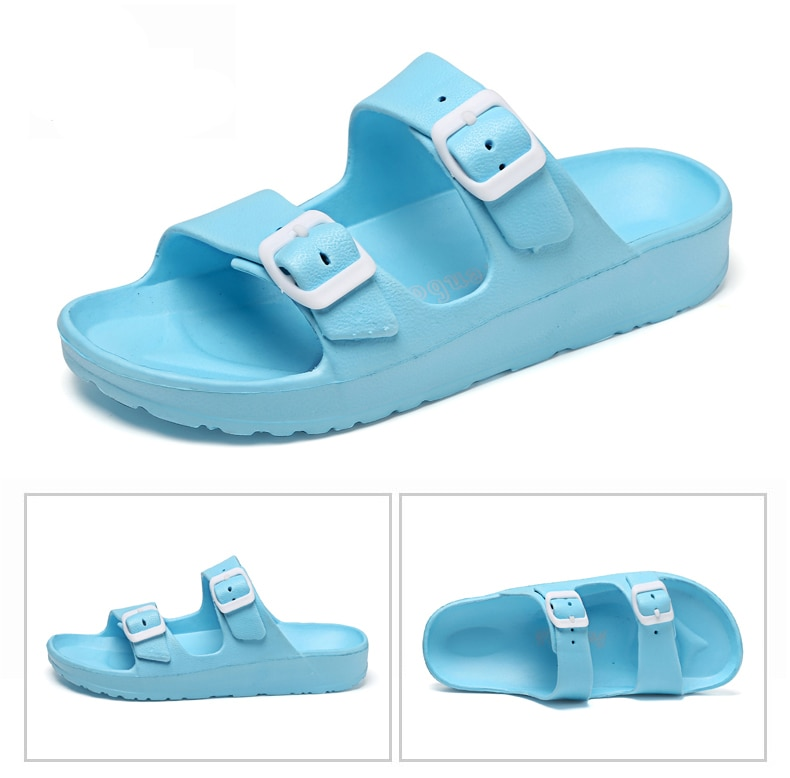 Dosreal New Summer Jelly Shoes Women Beach Sandals Hollow Slippers Ladies Flip Flops Buckle Light Sandalias Outdoor Slippers