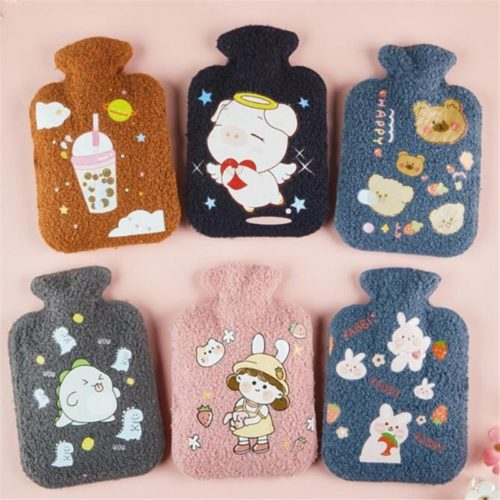 Warm Water Bag with Cute Fleece Cover
