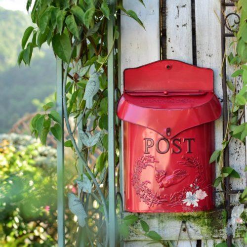 Metal Vintage Wall Mount Mailbox