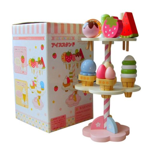 Wooden Ice Cream Stand Toy