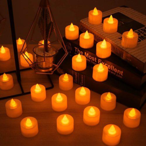 Battery Tea Lights LED Candles (24 Pcs)