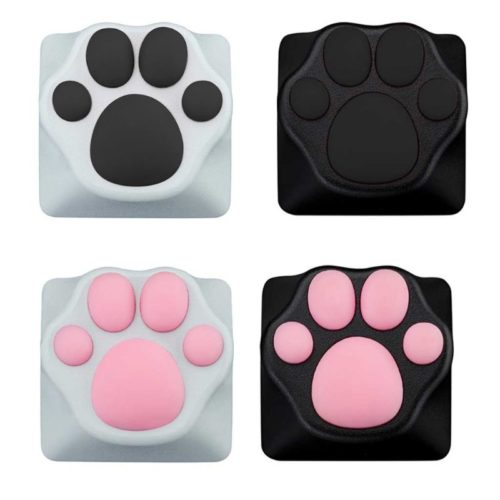 Cute ABS Silicone Cat Paw Keycap