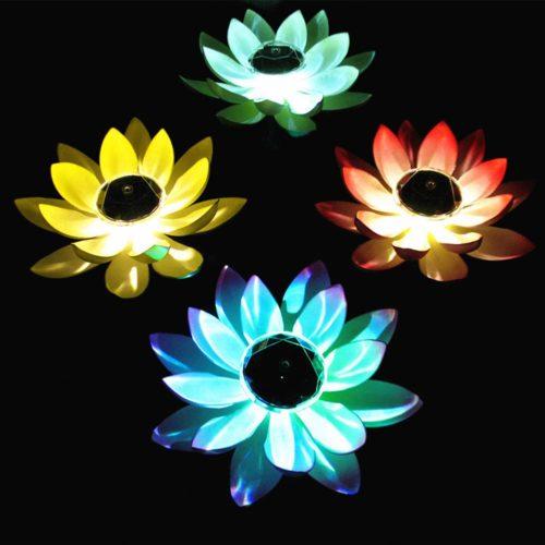 Solar Fake Lotus Flower Light