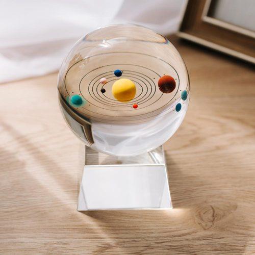 Light-Up 3D Solar System Crystal Ball