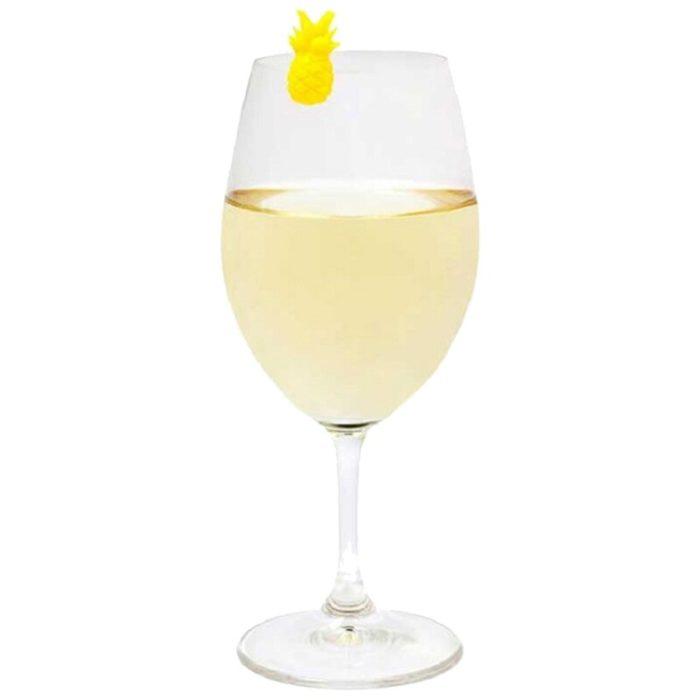 Pineapple Design Wine Glass Tags (6Pcs)