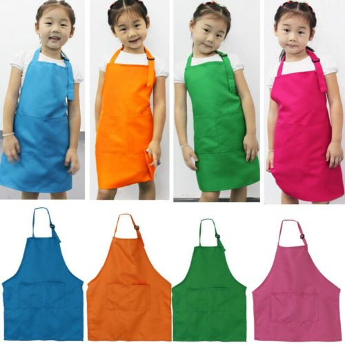 Kid's Baking Apron with Front Pockets