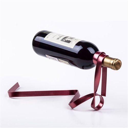 Floating Ribbon Single Bottle Wine Holder