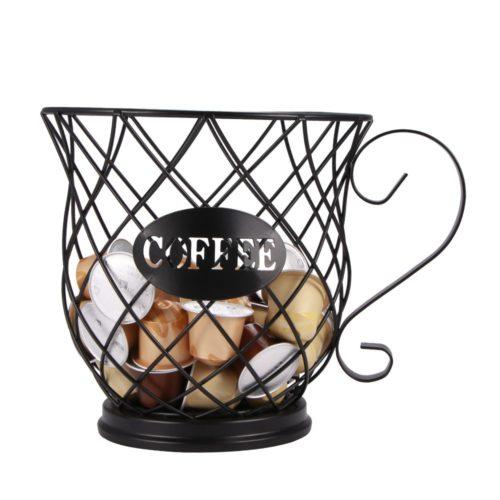 Iron Basket Coffee Capsules Holder