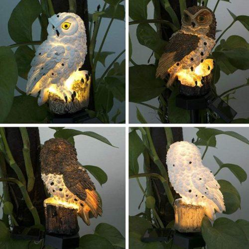 Solar Garden Owl Outdoor Decor