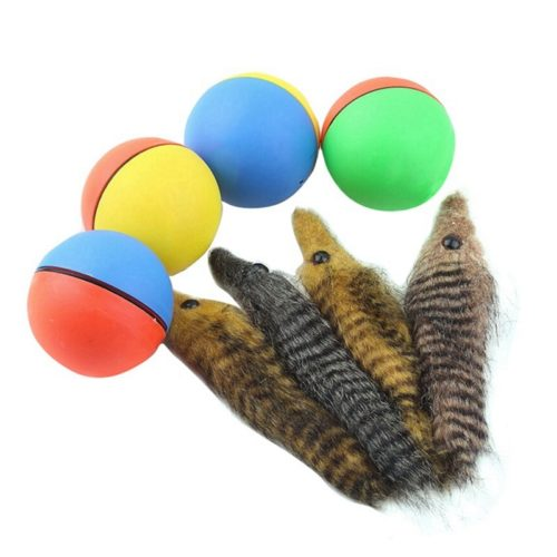 Electric Pet Teaser Weasel Ball Toy