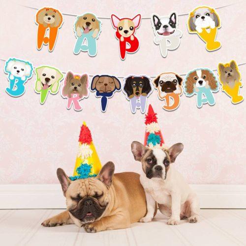 Dog Birthday Banner Pet Party Decor