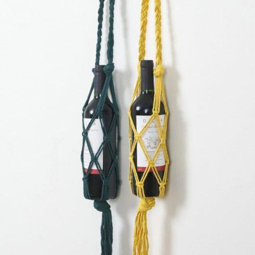 Boho Macrame Wine Bottle Holder