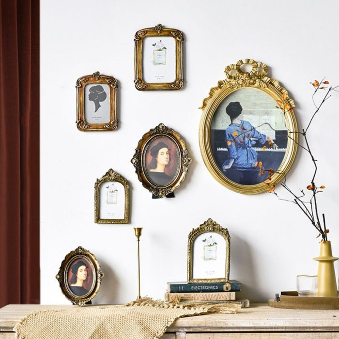 Antique Vintage Photo Frame with Stand