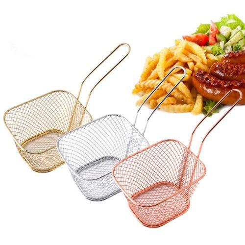Metal Mesh French Fries Serving Basket