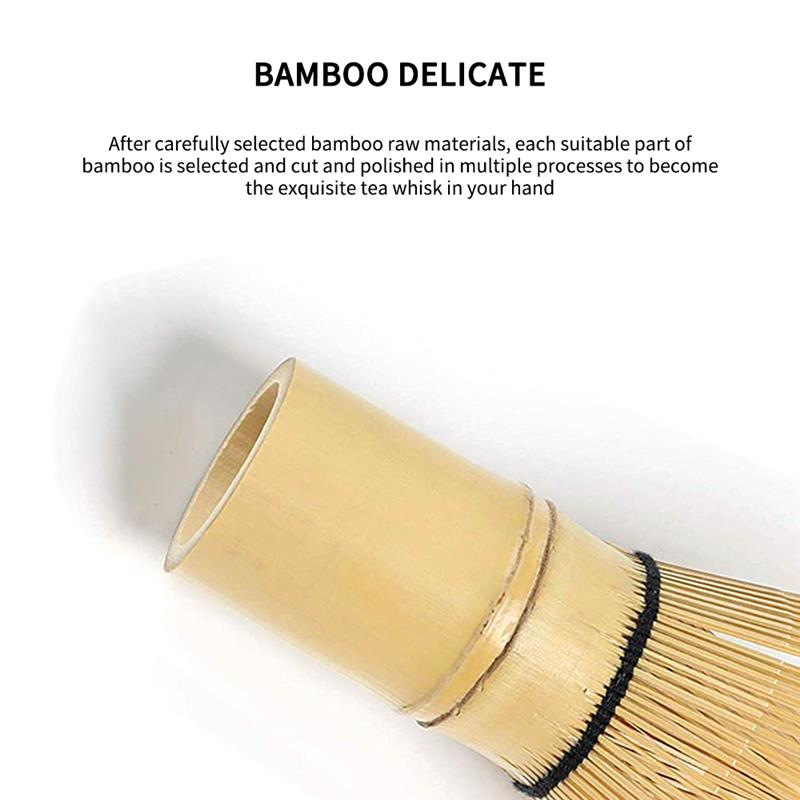 Bamboo Matcha Whisk Japanese Brush Professional Green Tea Powder Whisk Chasen Tea Ceremony Brush Tool Grinder