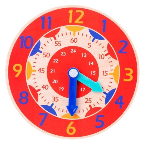 Wooden Clock Toy Preschool Teaching Aid