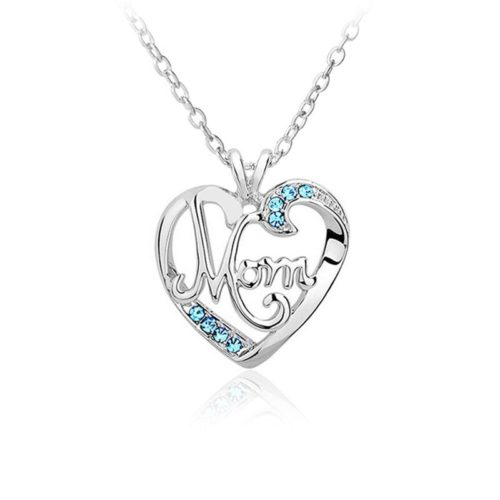 Mom Pendant Necklace Mother's Bday Gift