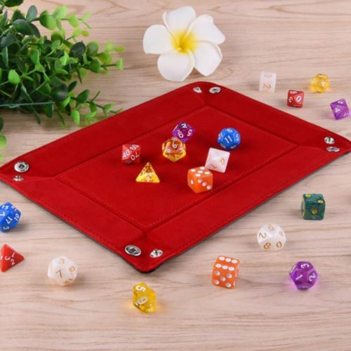 Foldable Flannelette Leather Dice Tray