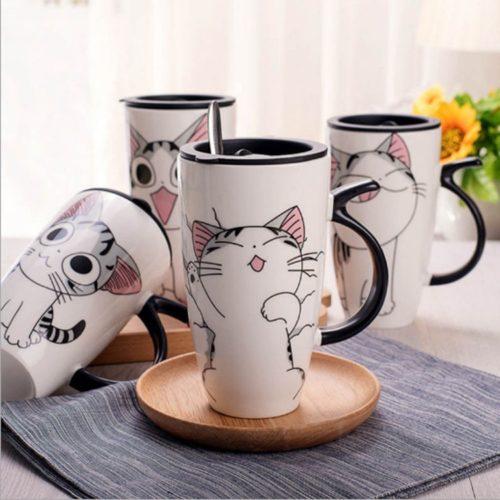 Cat Travel Mug Ceramic Cup