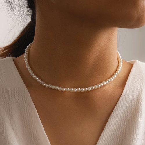 Pearl Choker White Necklace Accessory