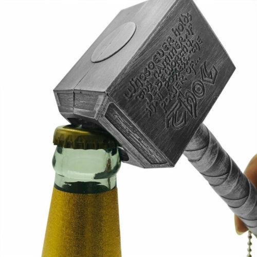 Thor Bottle Opener Hammer Keychain