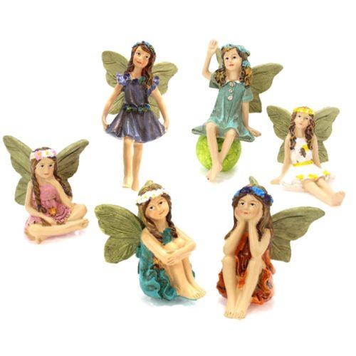 Miniature Fairy Figurines Set (6 Pcs)