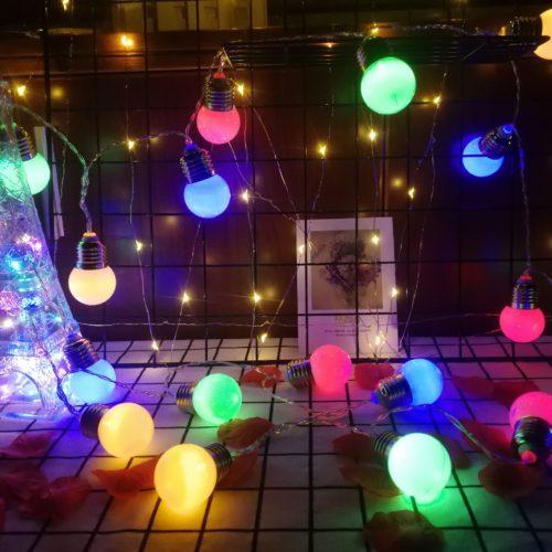 Outdoor Solar Bulb String Lights