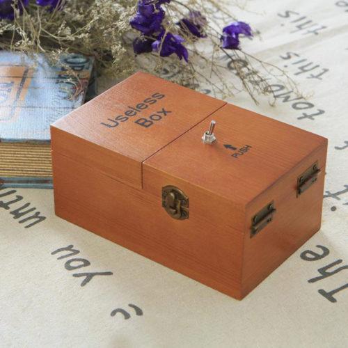 Wooden Mechanical Useless Box