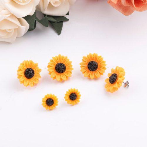 Sunflower Stud Earrings Flower Accessory
