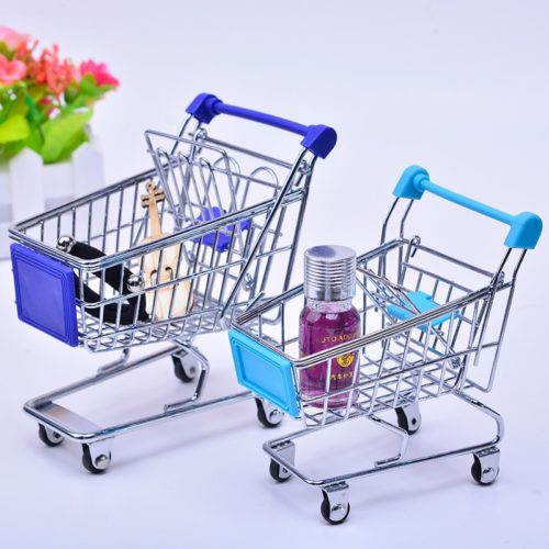 Miniature Shopping Cart Trolley Toy