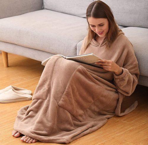 Oversized Blanket Hoodie Long Robe