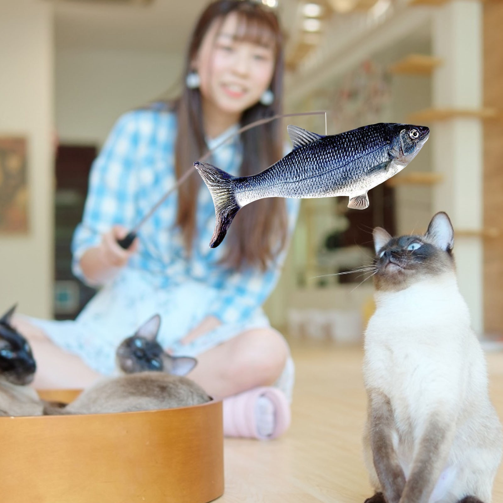 Electric Fish Cat Toy Pet 3D Simulation Fish Soft Plush Shaking Fish Toy Stuffed Interactive Dancing Fish Play Soft Cat Toy