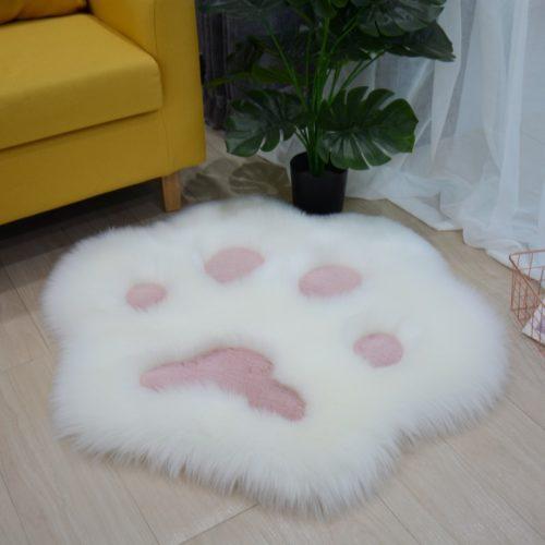 Cat Paw Rug Soft Plush Carpet