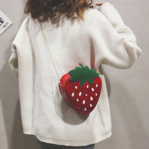 Strawberry Bag Fruit Crossbody Purse