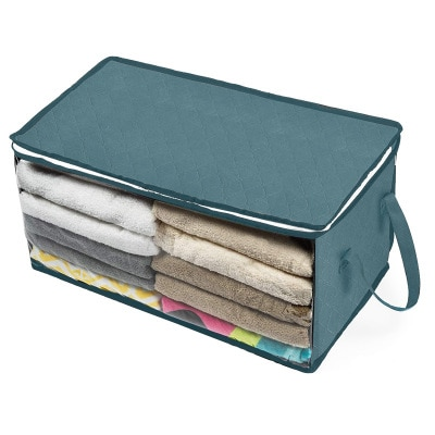 Foldable Comforter Storage Bag Household Clothing Storage Box Dustproof Non-woven Quilt Storage Bra Socks Wardrobe Organizer