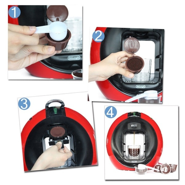 1PC Coffee Machine Reusable Capsule Coffee Cup Filter For Nescafe Refillable Coffee Cup Holder Pod Strainer for Dolce Gusto