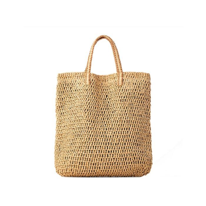 Straw Beach Tote Woven Bag
