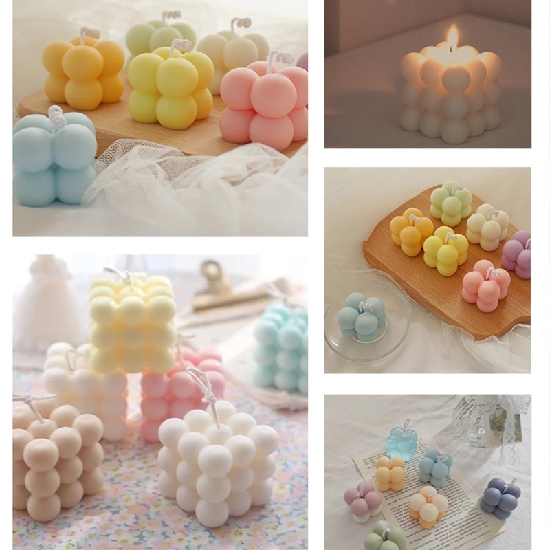 3D Silicone Candle Moulds Hand-made Soy Shaped Aromatherapy Plaster Candles Mold DIY Chocolate Candy Cake Mold Kitchen Gadgets