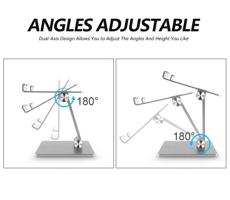 Adjustable Tablet Holder with Anti-Skid Pad